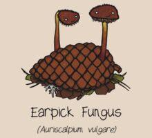 Earpick Fungus by Cartoon Neuron