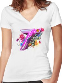 Tobu Good Times & Such Fun Women's Fitted V-Neck T-Shirt
