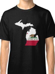 California flag Michigan outline Classic T-Shirt