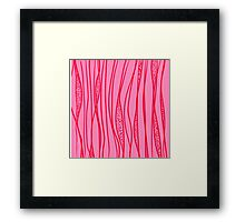red strange stroke Framed Print