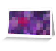 Purple Pixels Greeting Card