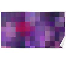 Purple Pixels Poster