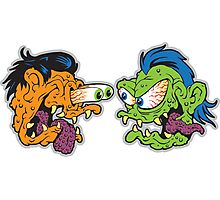 Furious Fink Face-Off! Photographic Print