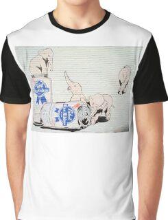 Pink Elephants Make You Think! Graphic T-Shirt