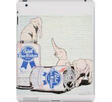 Pink Elephants Make You Think! iPad Case/Skin