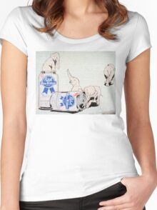 Pink Elephants Make You Think! Women's Fitted Scoop T-Shirt