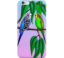 Budgies in the Gumtree iPhone Case/Skin