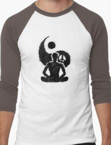 Meditated Peace - Ebony Men's Baseball ¾ T-Shirt