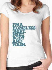 Homeless T-Shirt.... Women's Fitted Scoop T-Shirt
