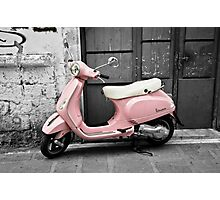 Pink Scooter Photographic Print