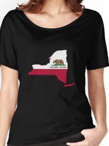 California flag New York outline Women's Relaxed Fit T-Shirt