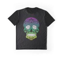 Mardi Gras Skull Graphic T-Shirt