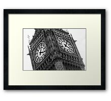 Black And White Big Ben from London, England Framed Print