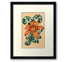 Lily with Filigree Framed Print