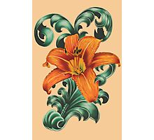 Lily with Filigree Photographic Print