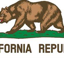 California flag Oregon outline Sticker