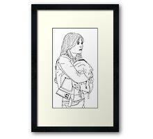 Emma Holding Baby Neal (Once Upon A Time) Framed Print