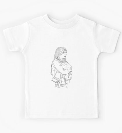Emma Holding Baby Neal (Once Upon A Time) Kids Tee