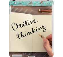 Motivational concept with handwritten text CREATIVE THINKING iPad Case/Skin