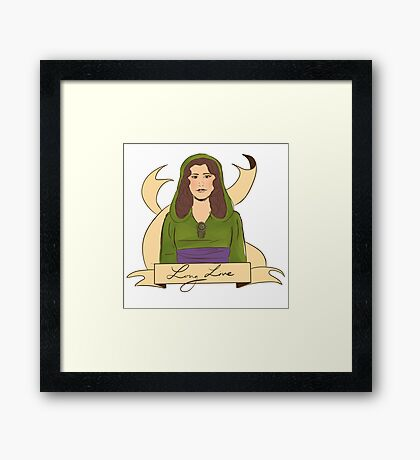 long live the queen Framed Print