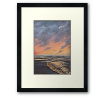 sundown, Ona Beach Framed Print