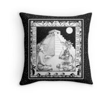 Mayan Shamans Throw Pillow