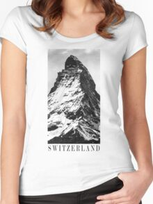 SWITZERLAND Women's Fitted Scoop T-Shirt