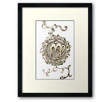 Virgo Floral Zodiac Design BRONZE Framed Print