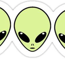 3 aliens wooooo Sticker
