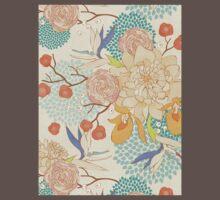 Peony Flower Pattern Baby Tee