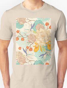 Peony Flower Pattern Unisex T-Shirt