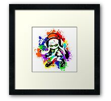 Inkling Girl - Splatter Framed Print