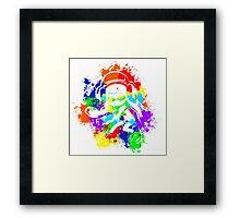 Inkling Girl - Splatter v2 Framed Print