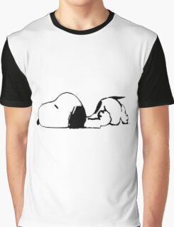 snoopy tired Graphic T-Shirt