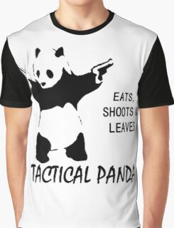 Tactical Panda Eats Shoots Leaves Graphic T-Shirt