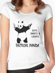 Tactical Panda Eats Shoots Leaves Women's Fitted Scoop T-Shirt
