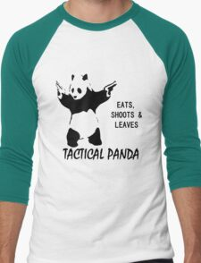 Tactical Panda Eats Shoots Leaves Men's Baseball ¾ T-Shirt