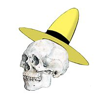 Skulls with Hats - Curious George/Man with the yellow hat by Chanash