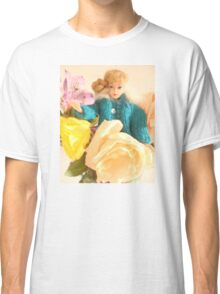 Vintage Barbie with Flowers Classic T-Shirt
