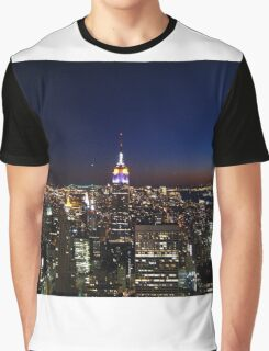 Empire State Building in New York City Graphic T-Shirt