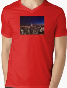 Empire State Building in New York City Mens V-Neck T-Shirt