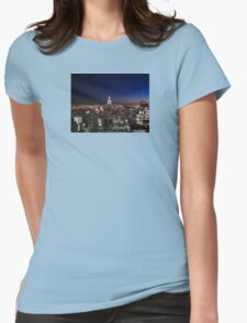Empire State Building in New York City Womens Fitted T-Shirt