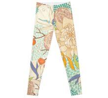 Peony Flower Pattern Leggings