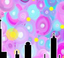 Swirly Metropolis Sticker