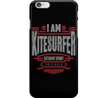 I Am Kitesurfer Red Art iPhone Case/Skin