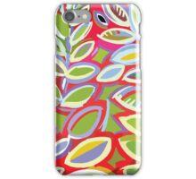 Leaf and Gingham Design iPhone Case/Skin