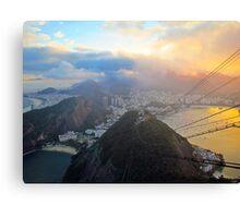 Rio de Janeiro at Sunset Canvas Print