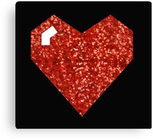 pixel valentines day heart Canvas Print