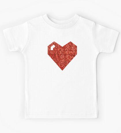 pixel valentines day heart Kids Tee