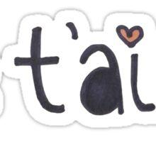 Je t'aime Sticker